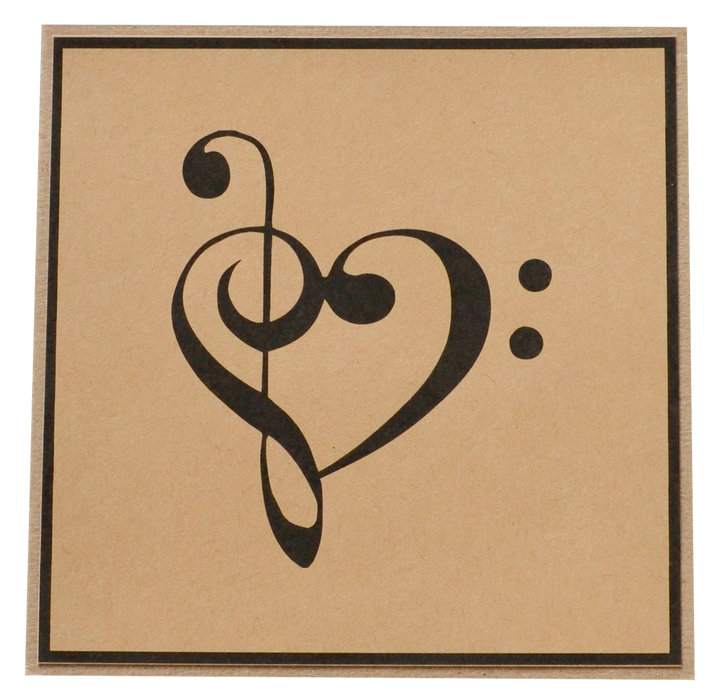 Greeting Card - Clef Heart