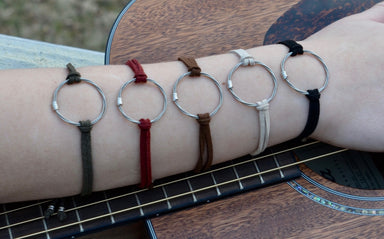 Suede Tie Bracelet - Song Circle