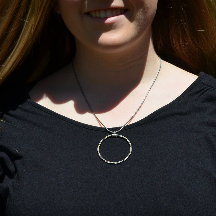 Song Circle Set - Necklace and Earrings