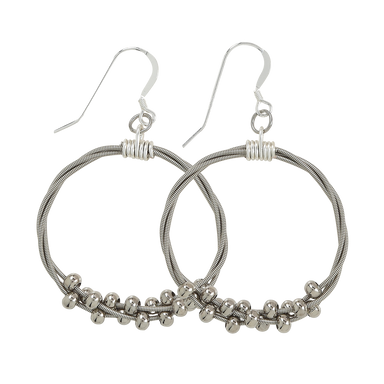 Floating Melody Hoop Earrings