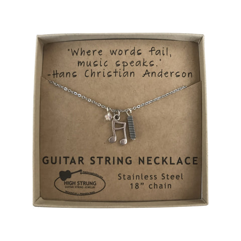 Guitar String Charm Necklace by High Strung Studios