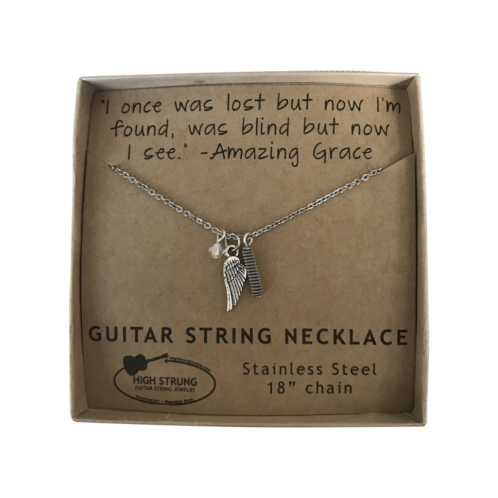 Quote Necklace Amazing Grace High Strung Studios