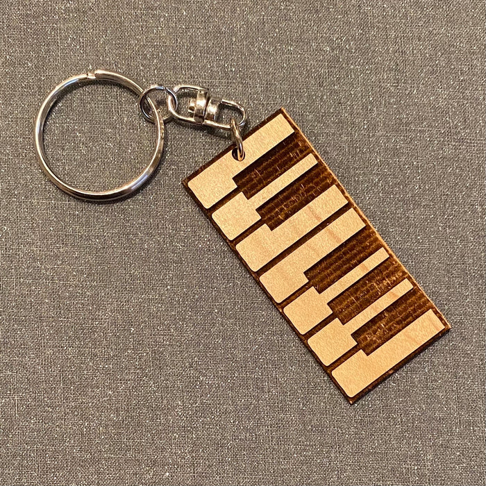Keyboard Laser Cut Wooden Key Chain