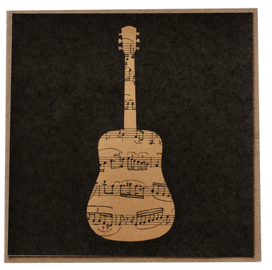 Greeting Card - Sheet Music Guitar