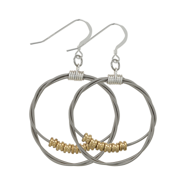 Song Circle Ball End Earrings