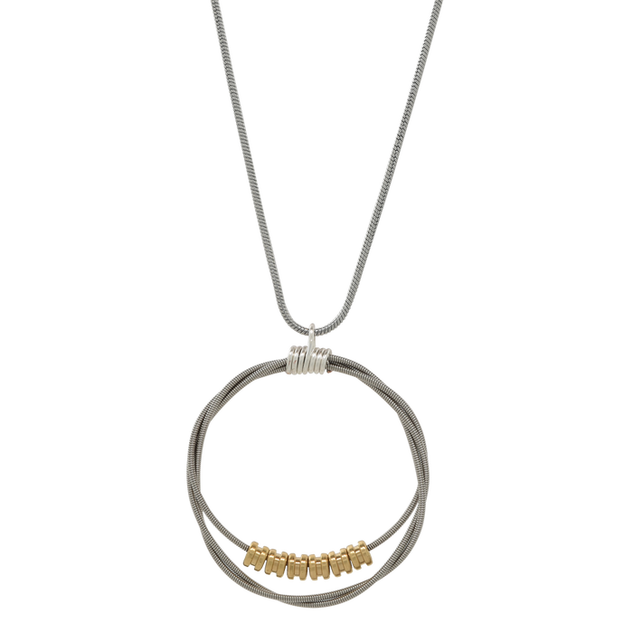 Song Circle Ball End Necklace