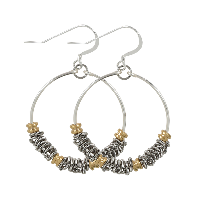 Staccato Hoop Earrings - Ball Ends