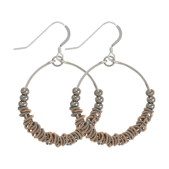 Staccato Hoop Earrings - Two-Tone