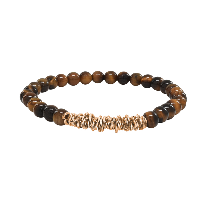 Stretch Rock Bracelet - Tiger's Eye