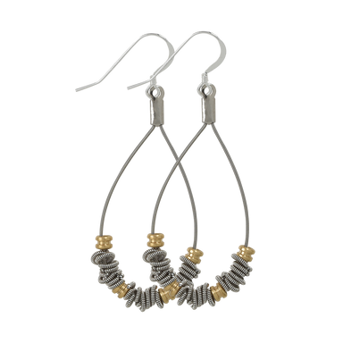 Staccato Teardrop Earrings - Ball Ends