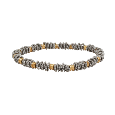 Staccato Stretch Bracelet - Two-Tone