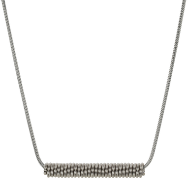 Wound Up Necklace - Silver