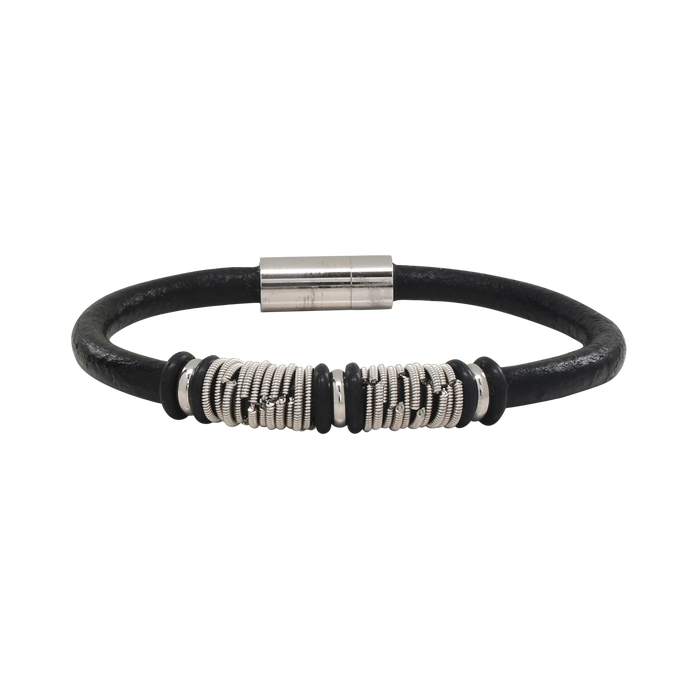 Wound Up Leather Bracelet - Staccato