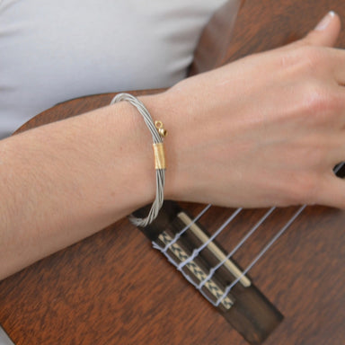Classic Guitar String Bracelet - Bangle with Ball Ends