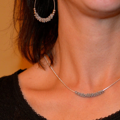 Staccato Guitar String Necklace - Silver