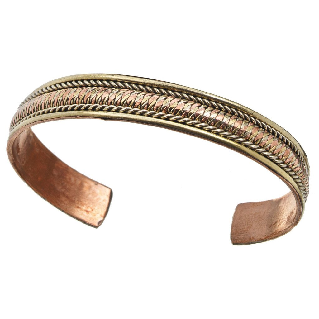 Jewelry - Copper and Brass Cuff Bracelet: Healing Path