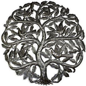 Home Decor - Tree of Life Birds Ready to Fly Metal Wall Art 24-inch Diameter