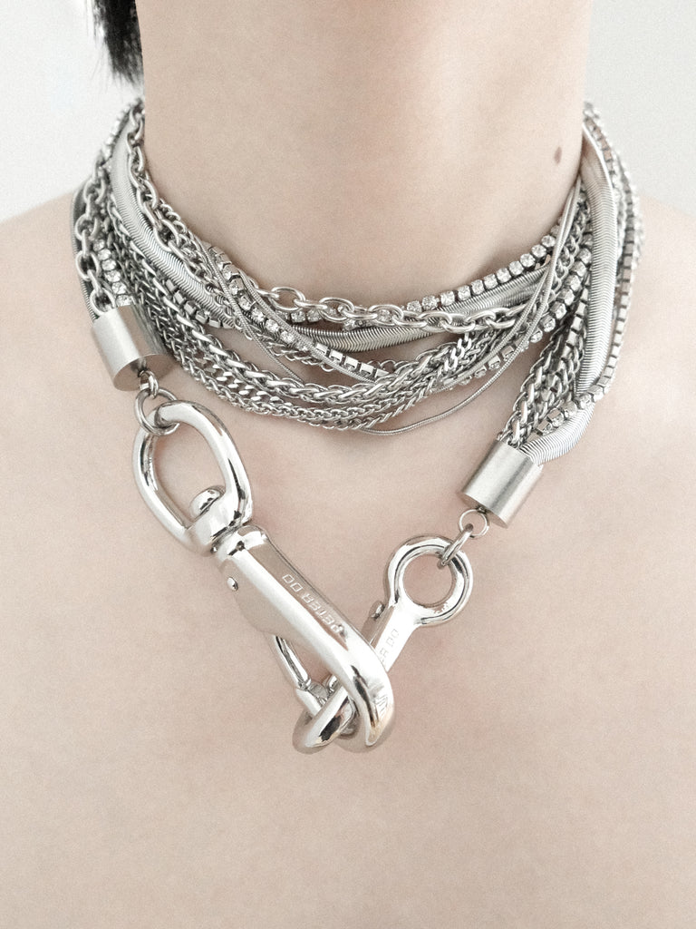 Multi-chain Crystal Necklace/Strap