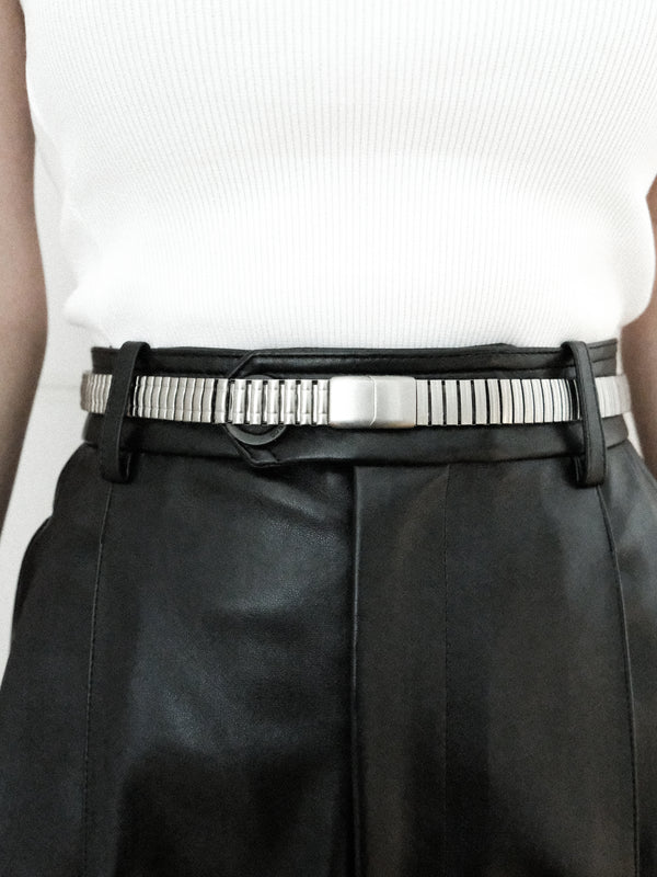 Brushed Silver Watch Link Belt