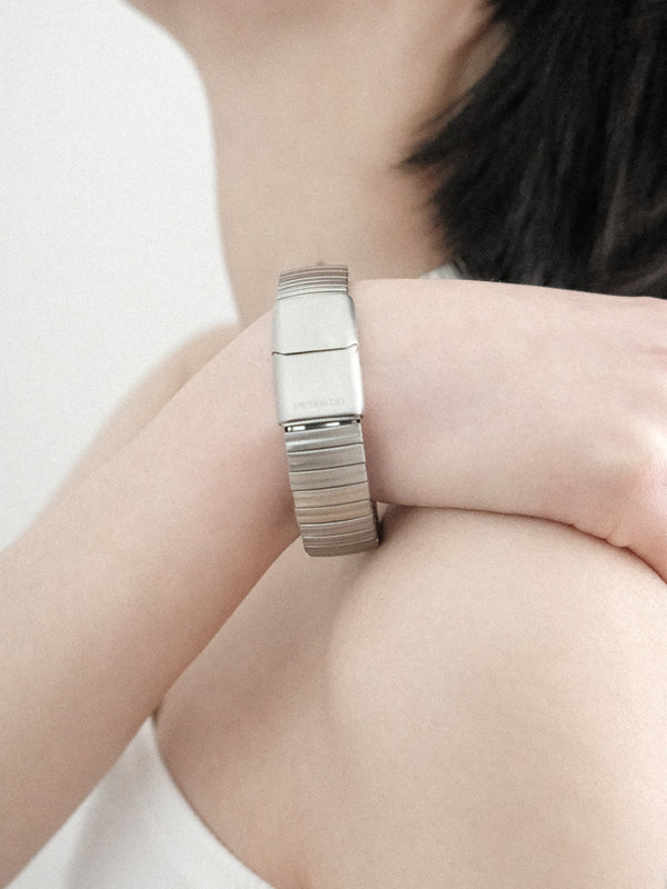 Brushed Silver Watch Link Bracelet
