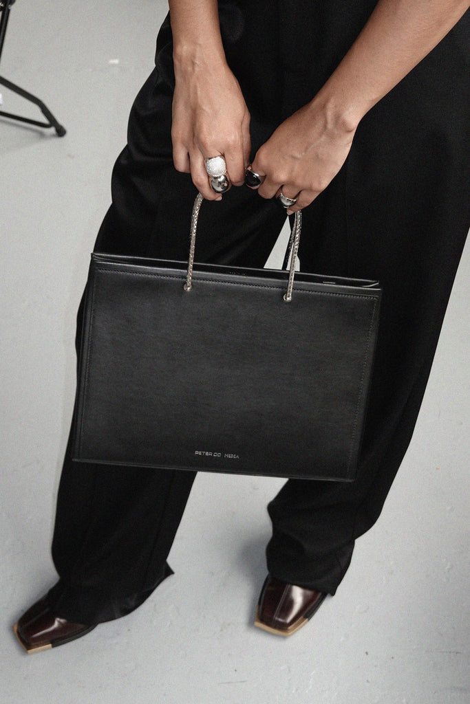 PETER DO X MEDEA BLACK EVENING BAG
