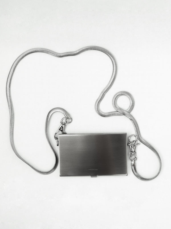Brushed Silver Card Case