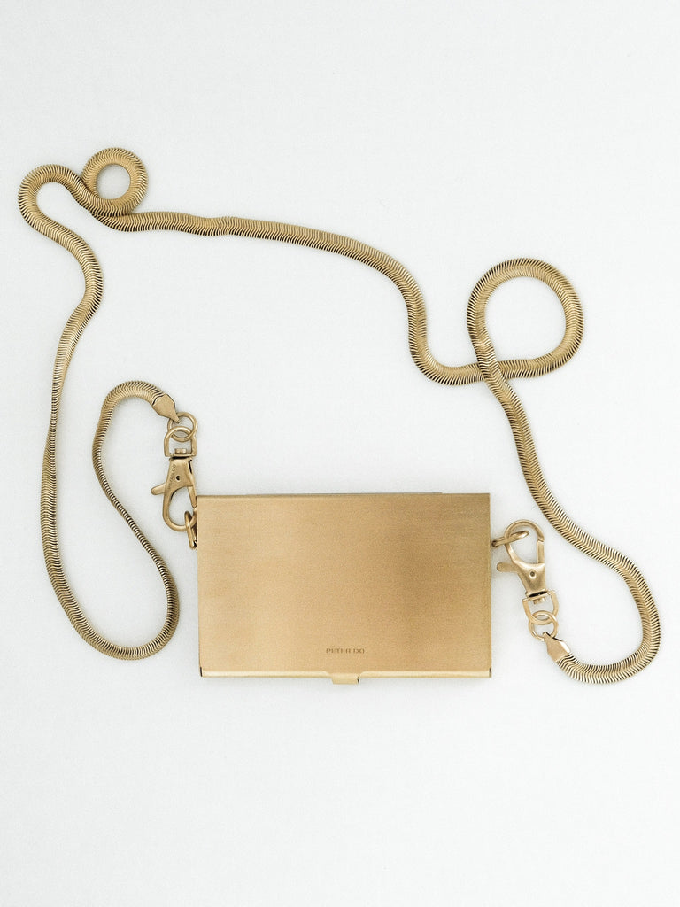Brushed Gold Card Case