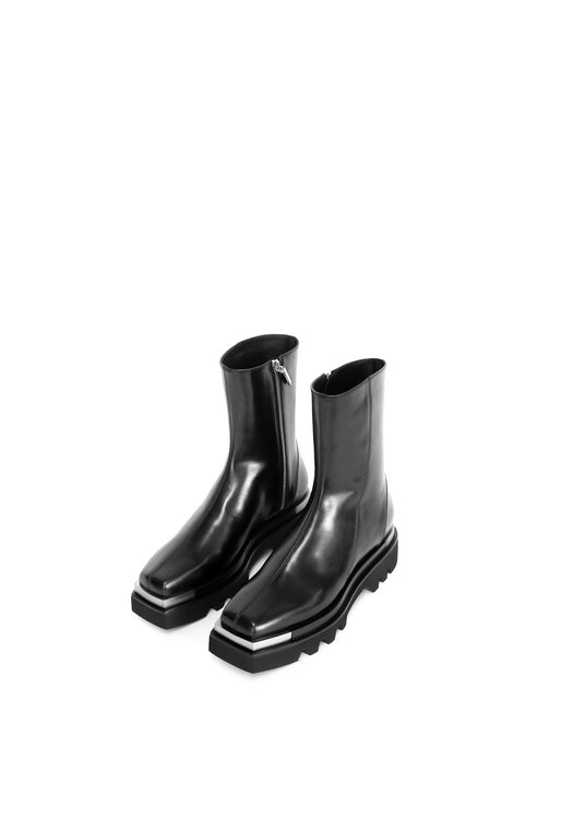 AVAILABLE NOW - BLACK COMBAT BOOTS WITH METAL TIP