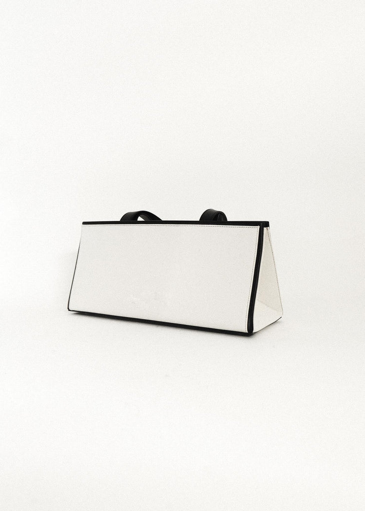 PETER DO X MEDEA EGGSHELL/BLACK BAGUETTE BAG