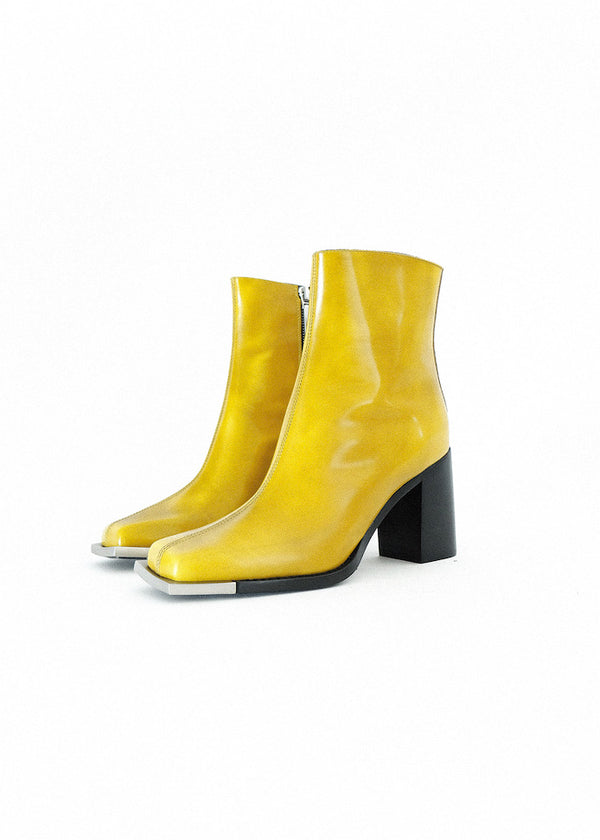 MUSTARD EVERYDAY BOOT WITH SILVER METAL TIP