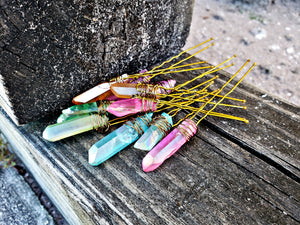 Crystal Wire Wrap Hair Pins