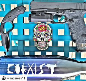"""COEXIST"" Gun Sticker"