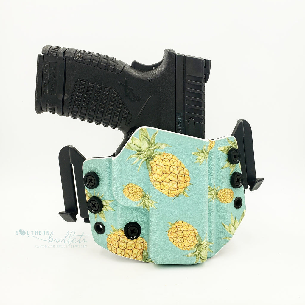 Teal Pineapple Wingwomen OWB Holster