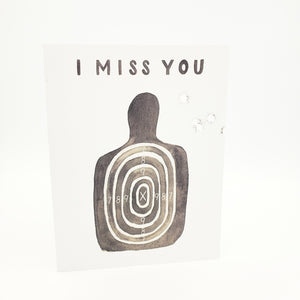 """I Miss You"" Hand Shot Greeting Card"