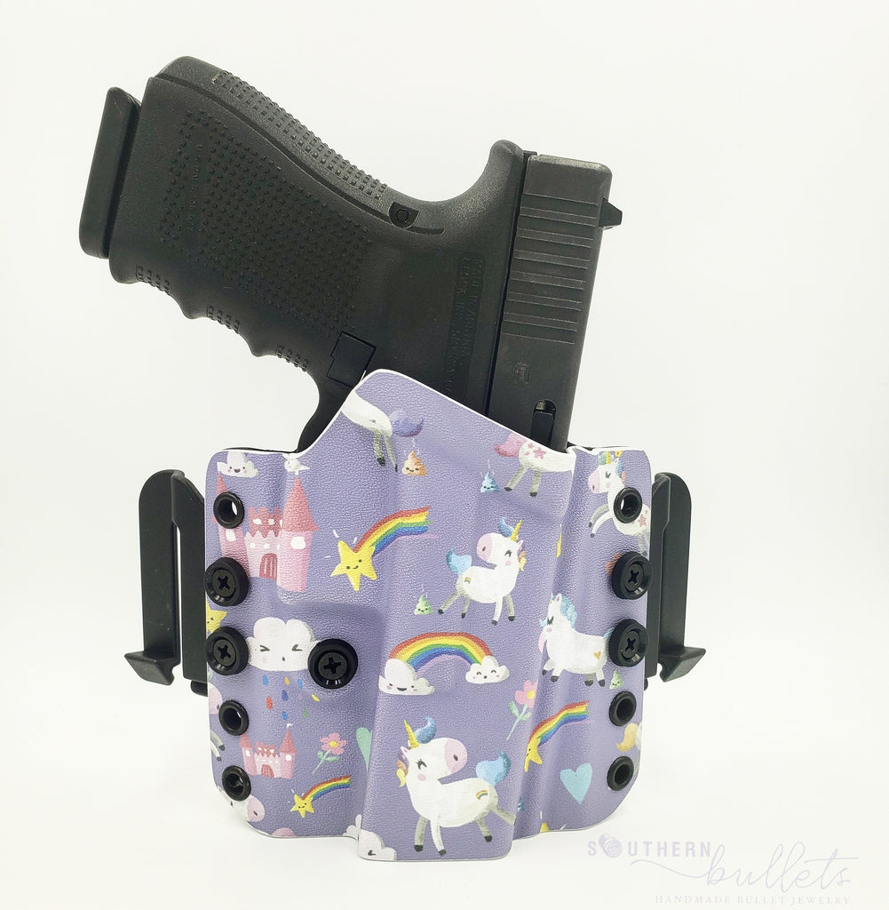Purple Unicorn Wingwomen OWB Holster