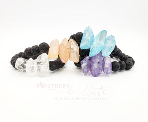 Soul Grounding Crystal & Earth Essential Oil Bracelet