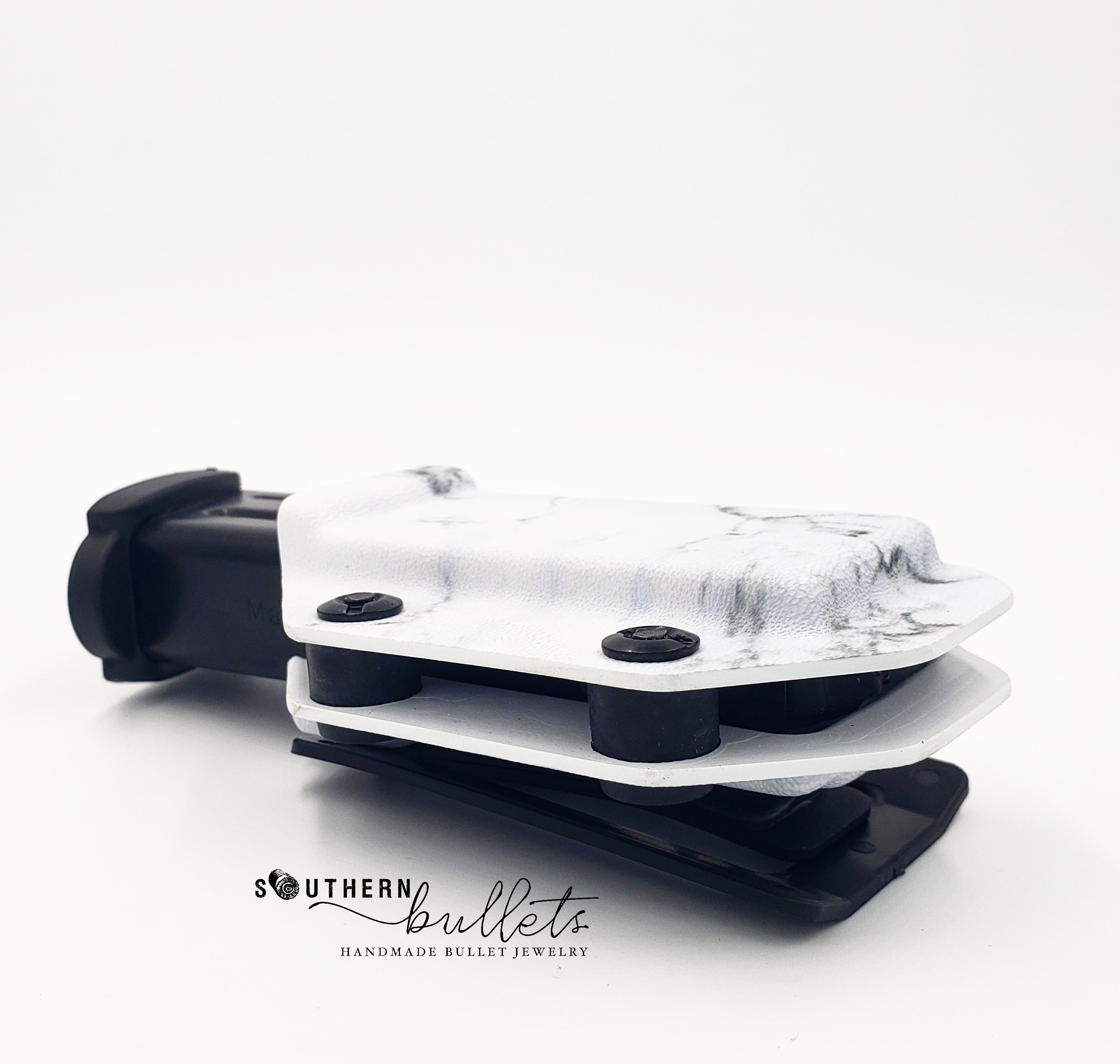 White Marble Fabriclip Magazine Carrier