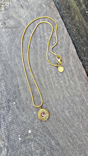 Gold Bullet Pendant Necklace