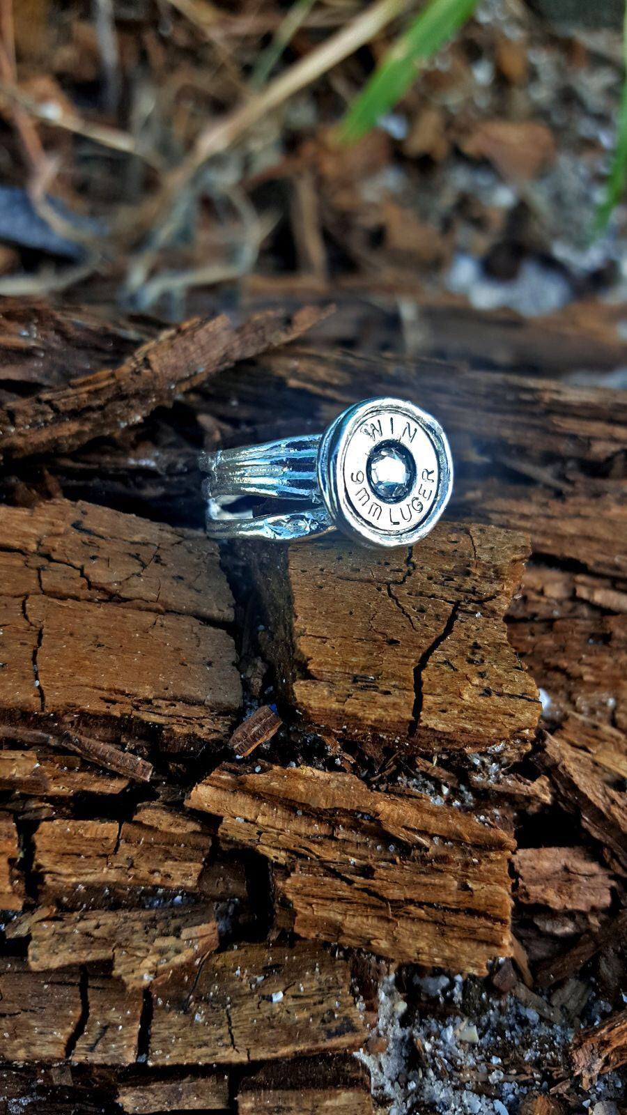 Sterling Silver Bullet 9mm Ring - Southern Bullets