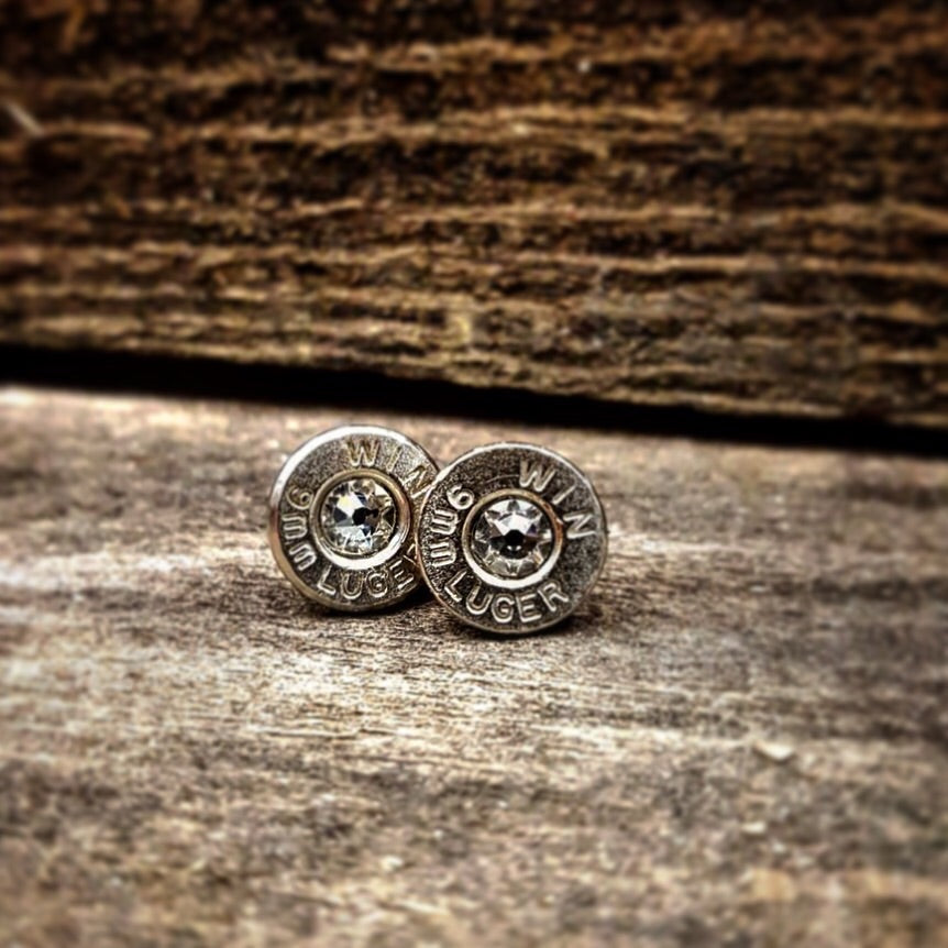 Sterling Silver Bullet Earrings - Southern Bullets