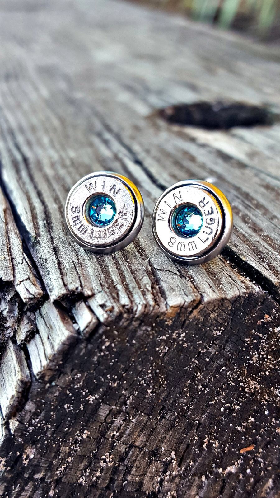 9mm Brass Earring Studs - Southern Bullets