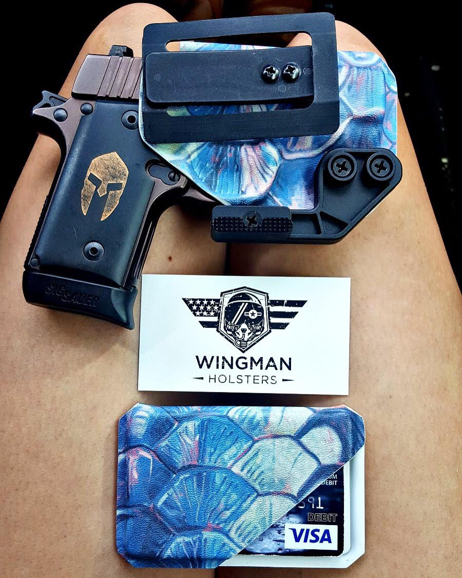Mermaid Tarpon Scale Wingman Holster (IWB)