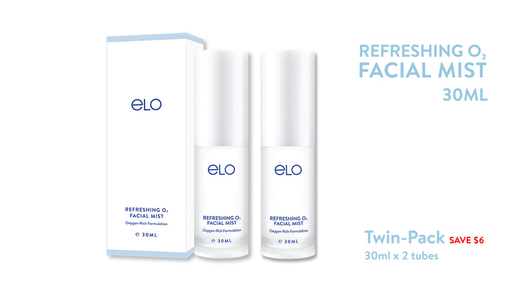ELO Refreshing O₂ Facial Mist (Twin Pack) (30ml)