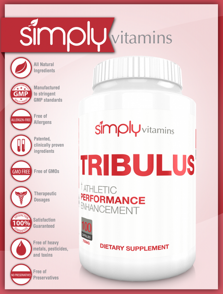 Simply Vitamins Tribulus 750mg 100 Caps