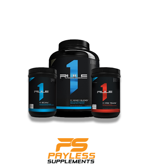Buy Rule 1 Stack - Whey - BCAA - Pre Train this sports supplement from Payless Supplements, today