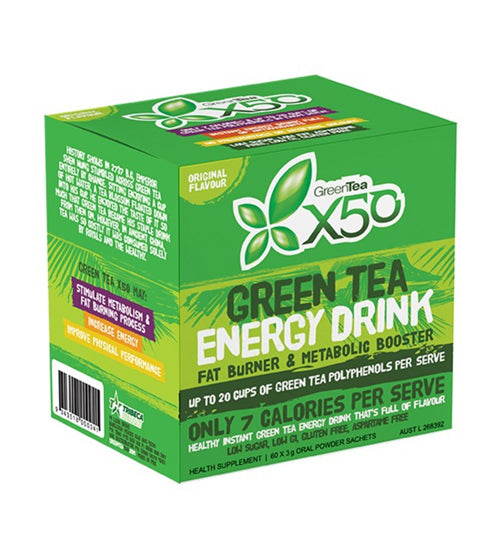 Buy X50 GREEN TEA ORIGINAL NEW FORMULA this sports supplement from Payless Supplements, today