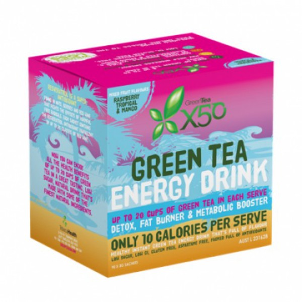 X50 GREEN TEA 90 SERVE FRUIT PACK ASSORTED