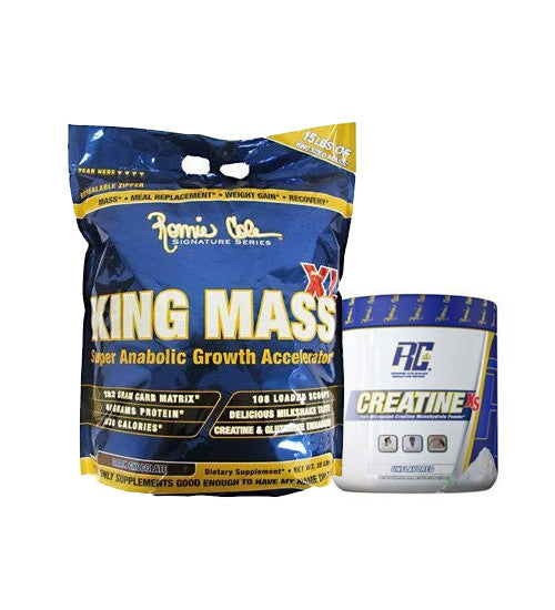 Buy RONNIE COLEMAN KING MASS 15LB + CREATINE 300gms this sports supplement from Payless Supplements, today