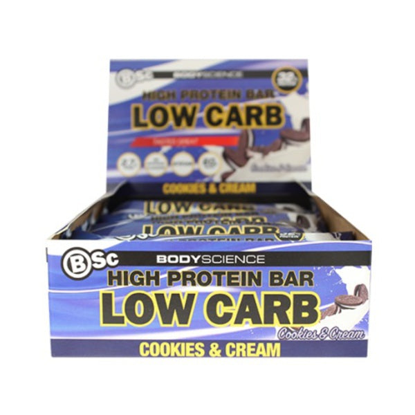 BSC BODY SCIENCE HIGH PROTEIN LOW CARB BAR Box12