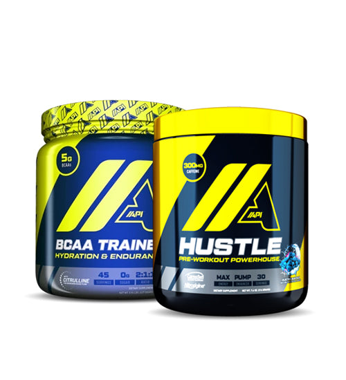 API BCAA TRAINER + HUSTLE PRE WORKOUT
